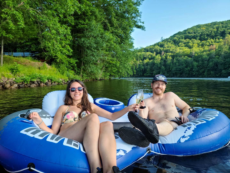 Celebrando el 4 de Julio en Lake Luzerne, Nueva York