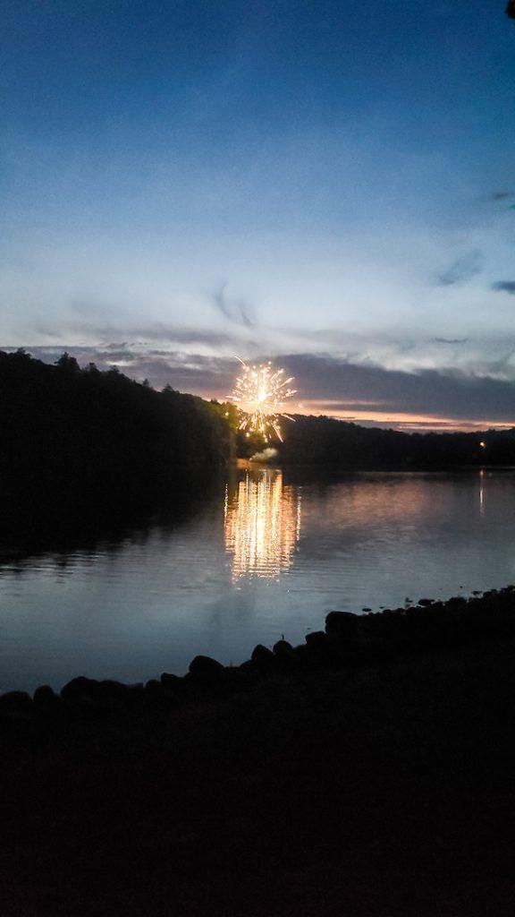 Fuegos artificiales por el 4 de Julio, Lake Luzerne, Nueva York