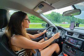 Conduciendo hacia Lake Luzerne, Nueva York