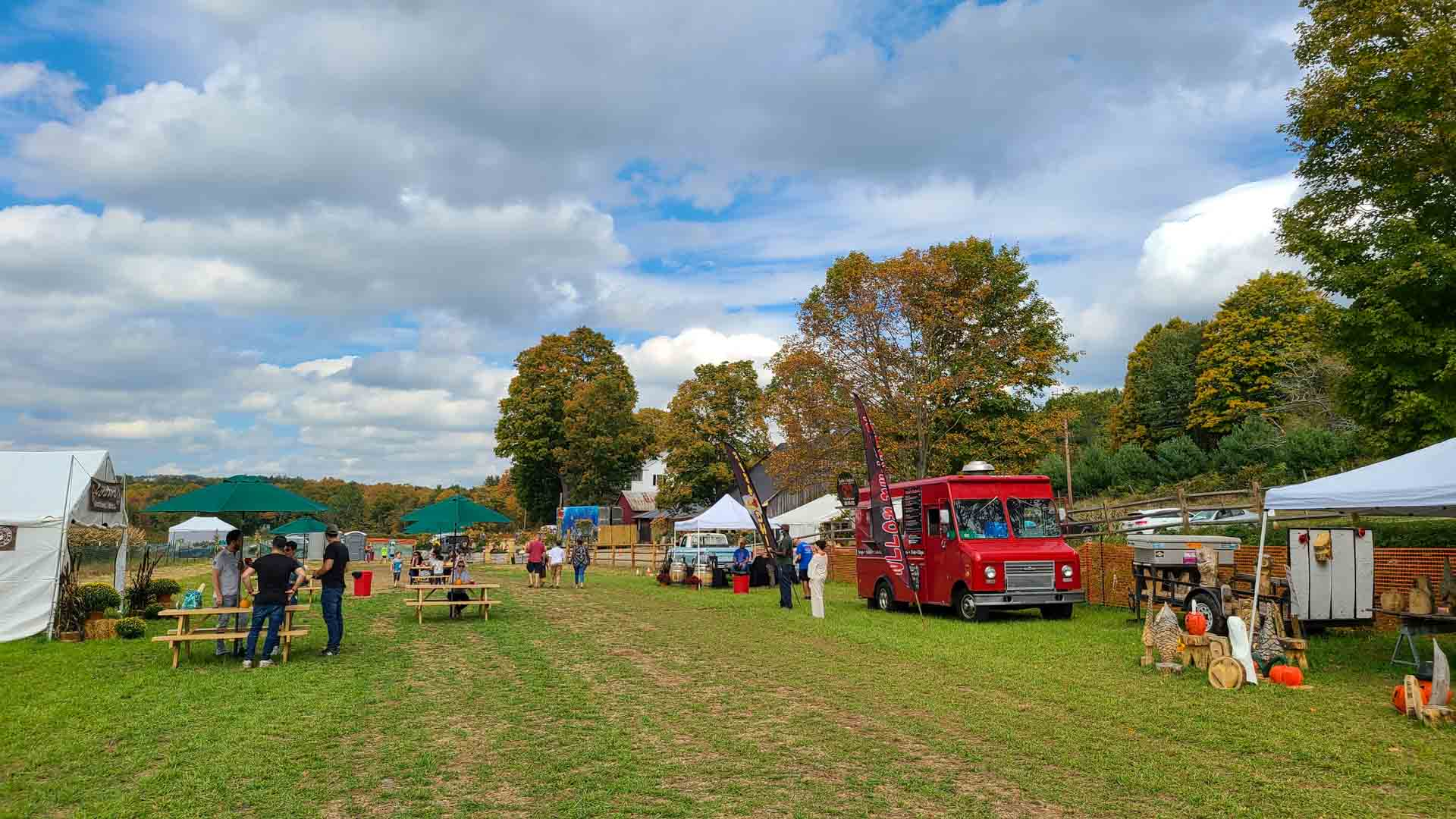 Zona de picnic en The Farm, Woodbury, Connecticut